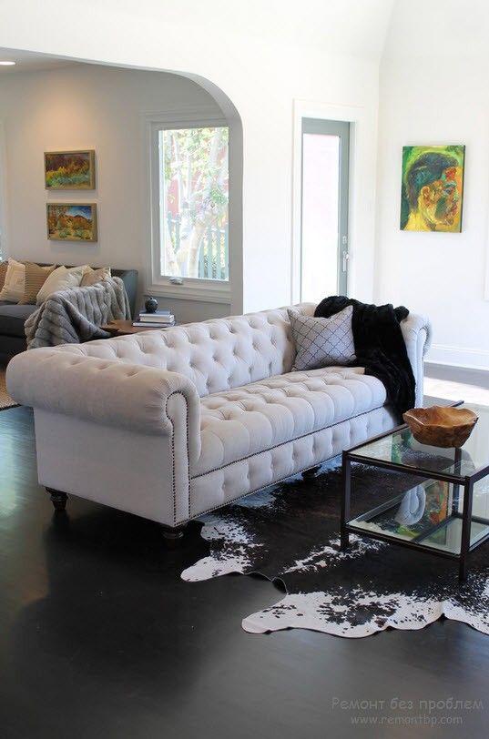 Классический белый диван