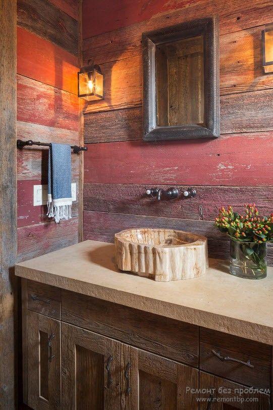Аксессуары из дерева для ванной комнаты