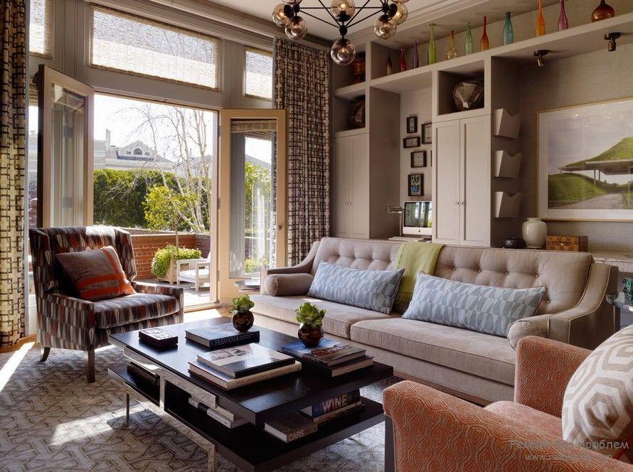 Красивая мягкая мебель в красивом интерьере