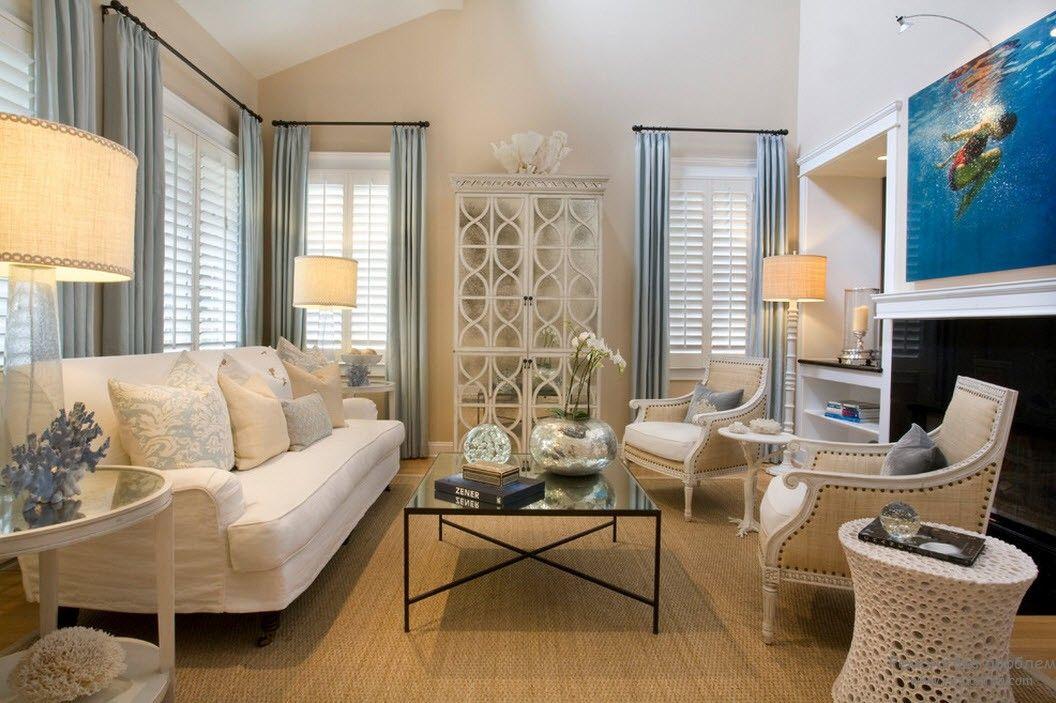 Эффектная белая мебель в интерьере
