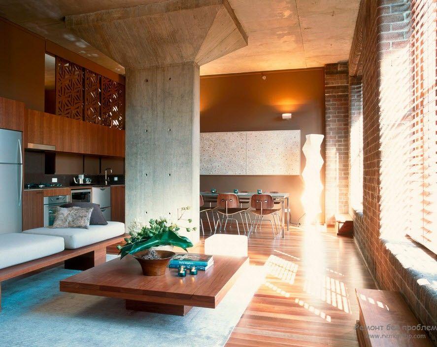 Легкость и мягкость интерьера гостиной на фото