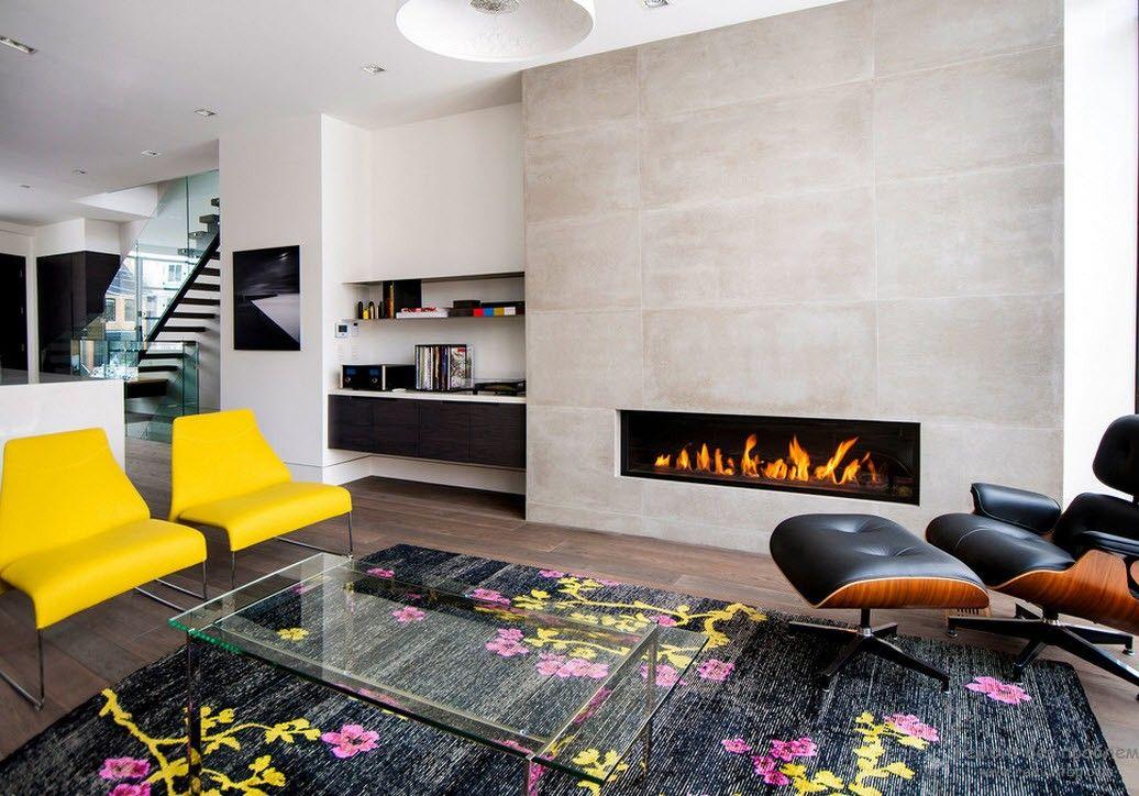 элементы хай-тек в гостиной