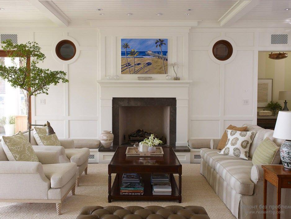 Изящество и легкость в интерьере гостиной