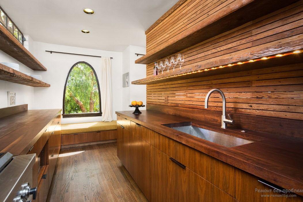 Завершенность стиля в интерьере из дерева