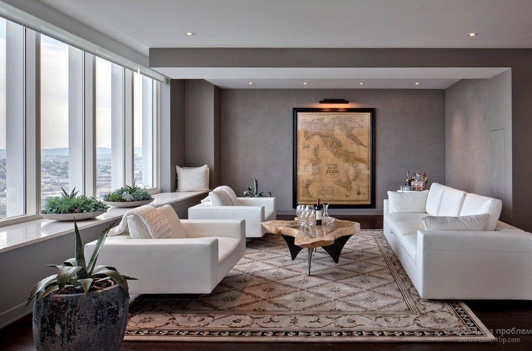 Элегантная белая мебель в гостиной
