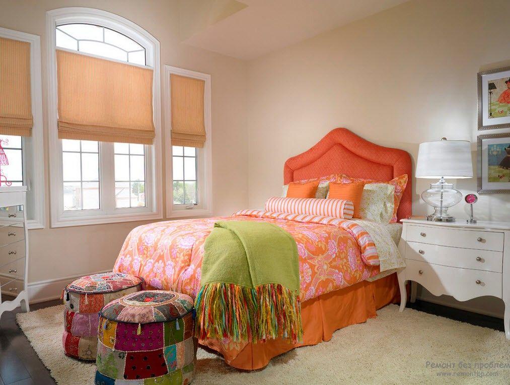 Уютная спальня в стиле пэчворк