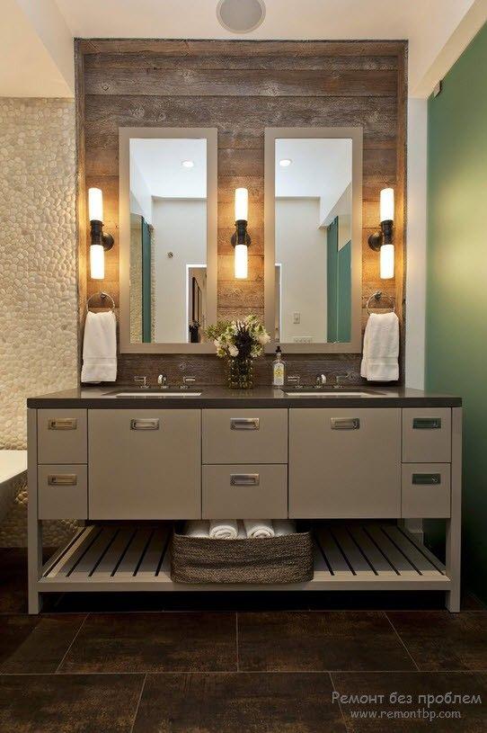 Эффектное освещение в ванной комнате