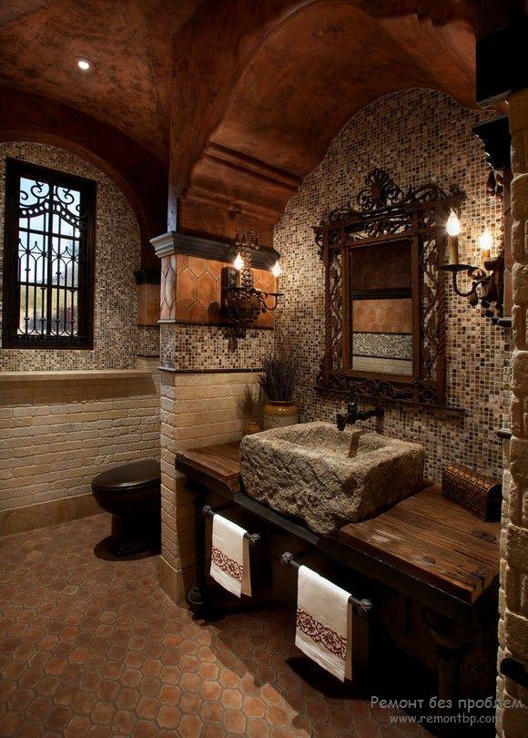 Декор ванной в средиземноморском стиле