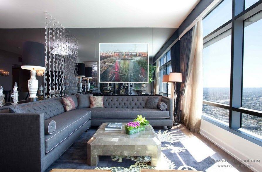 Эффектная мягкая мебель в роскошном интерьере