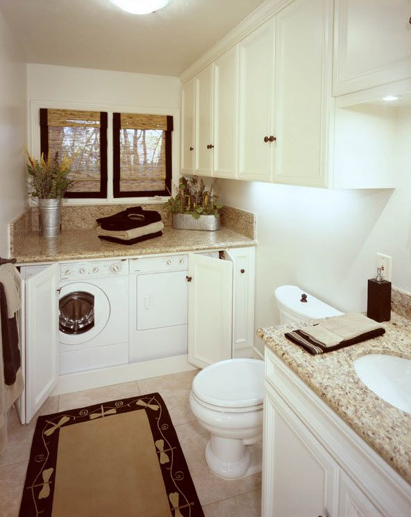 for Washer and dryer in bathroom designs