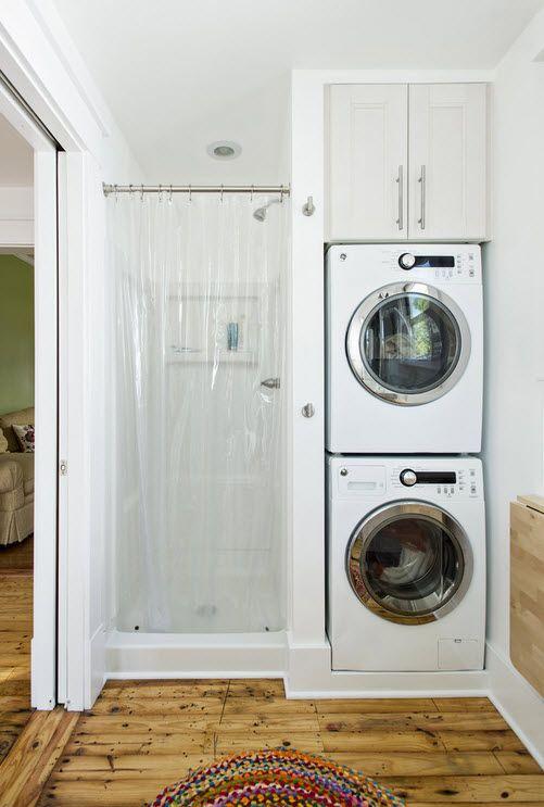 Установить две стиральные машины