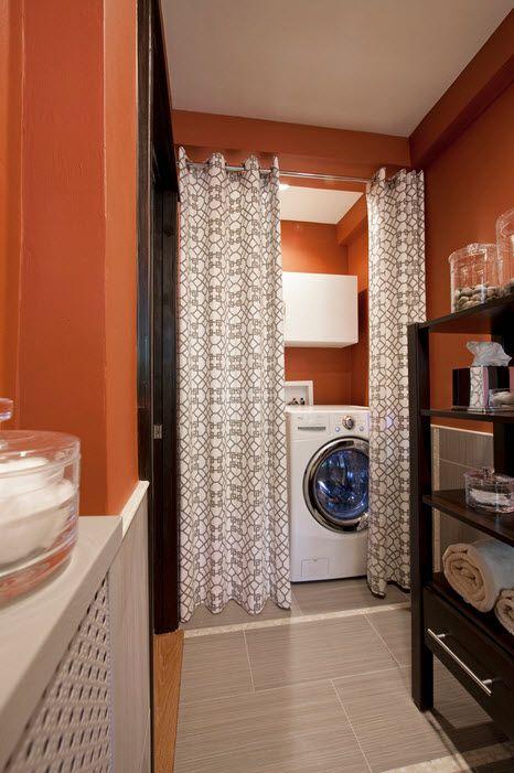 Спрятать стиральную машину в ванной