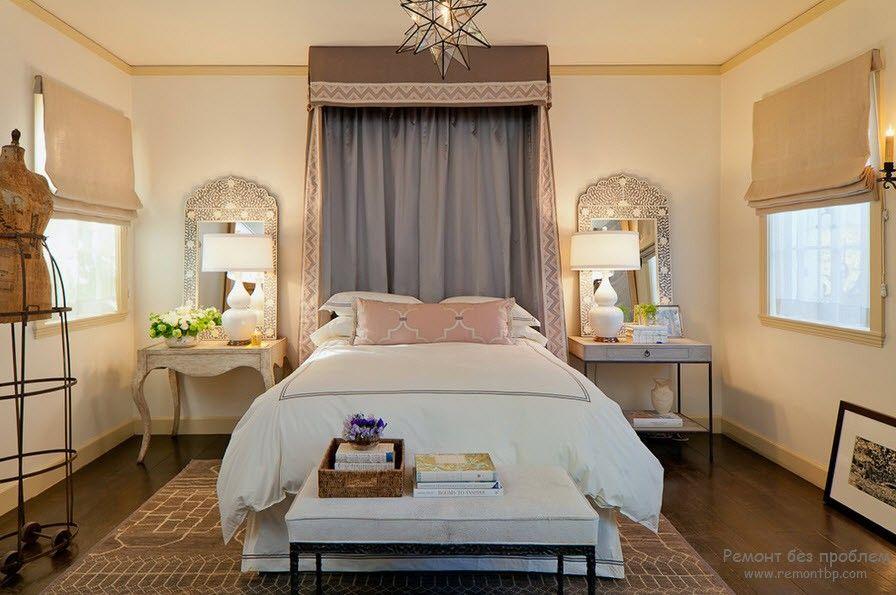 Освещение в спальне средиземноморский стиль