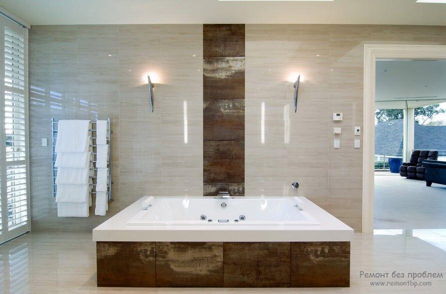 Плитка металлический в ванной
