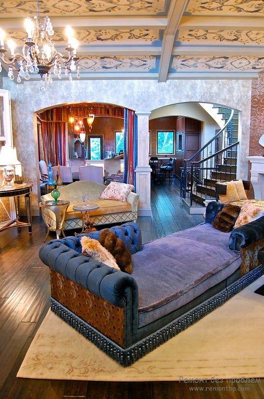 Роскошный интерьер и роскошная мягкая мебель