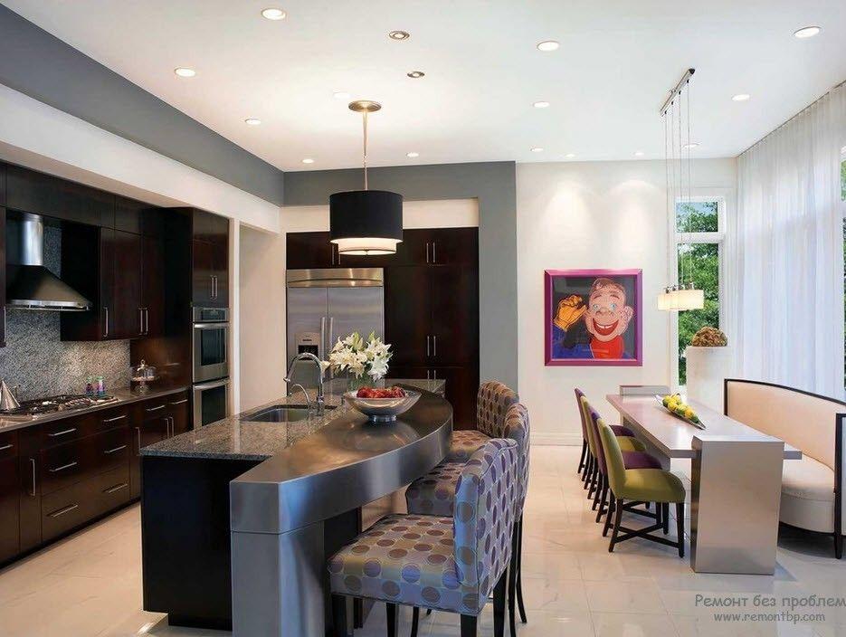 Крашенные стены в интерьере фото кухни