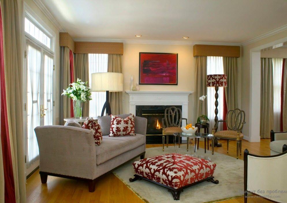 Комфортная мебель в гостиной