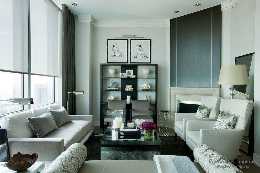 Красивая белая мягкая мебель