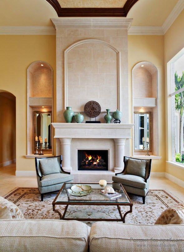 Уютная гостиная в средиземноморском стиле