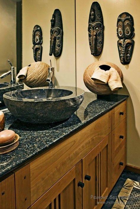 Мебель для ванной в африканском стиле