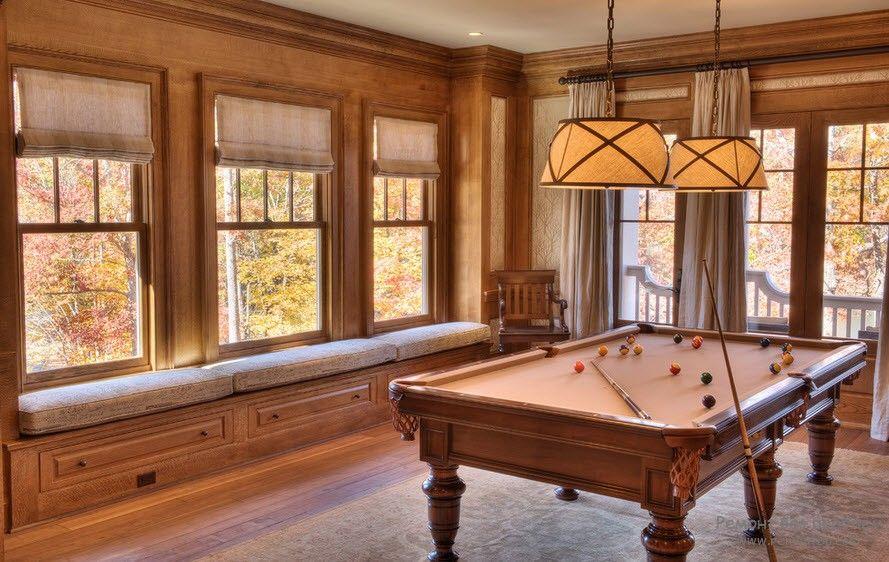 Удобный пол для бильярдной комнаты