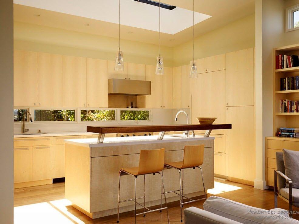 Мини-стойка - остров в интерьере кухни
