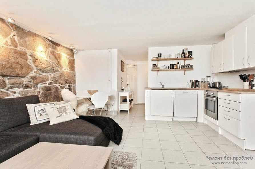 Шикарная просторная кухня со спальным местом