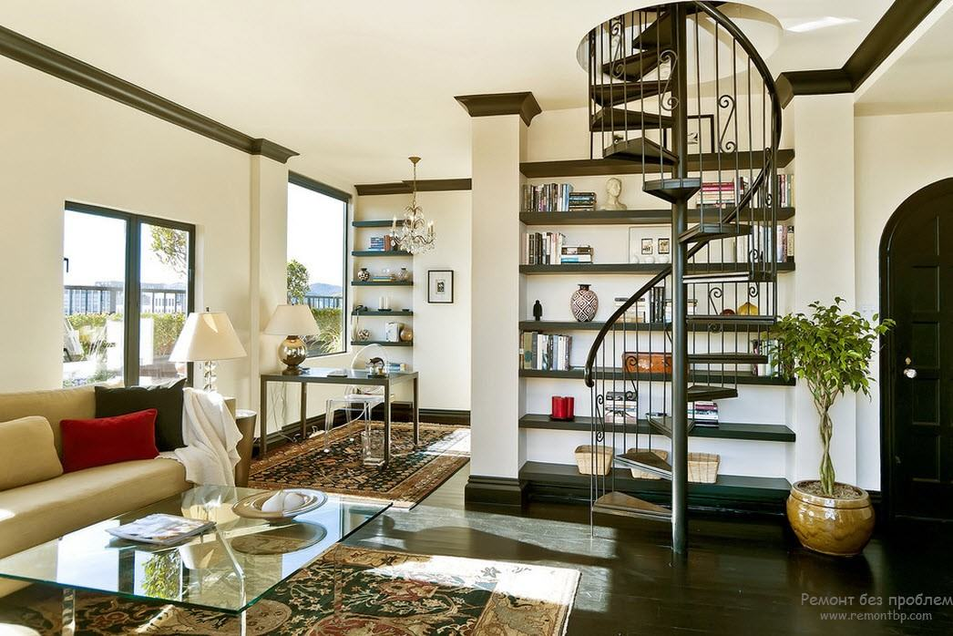 Расположение лестницы