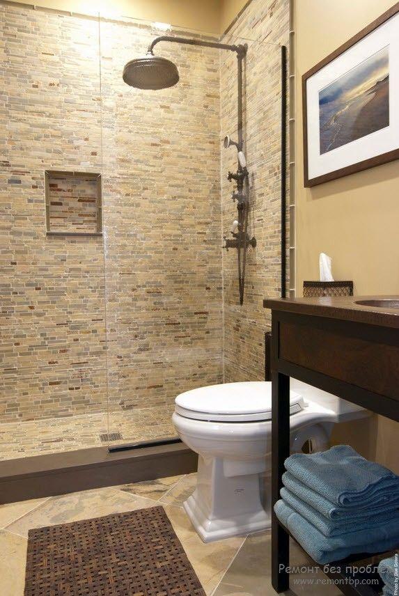 Чувство меры в отделке из камня в ванной