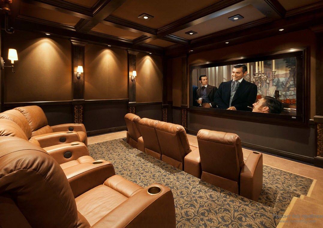 Интерьер и дизайн домашнего кинотеатра современных