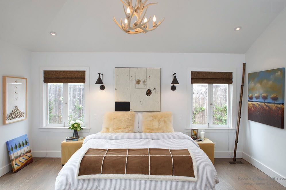 Не яркий подвесной светильник для общего освещения спальни