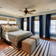 Дизайн синей спальни – синий цвет в интерьере