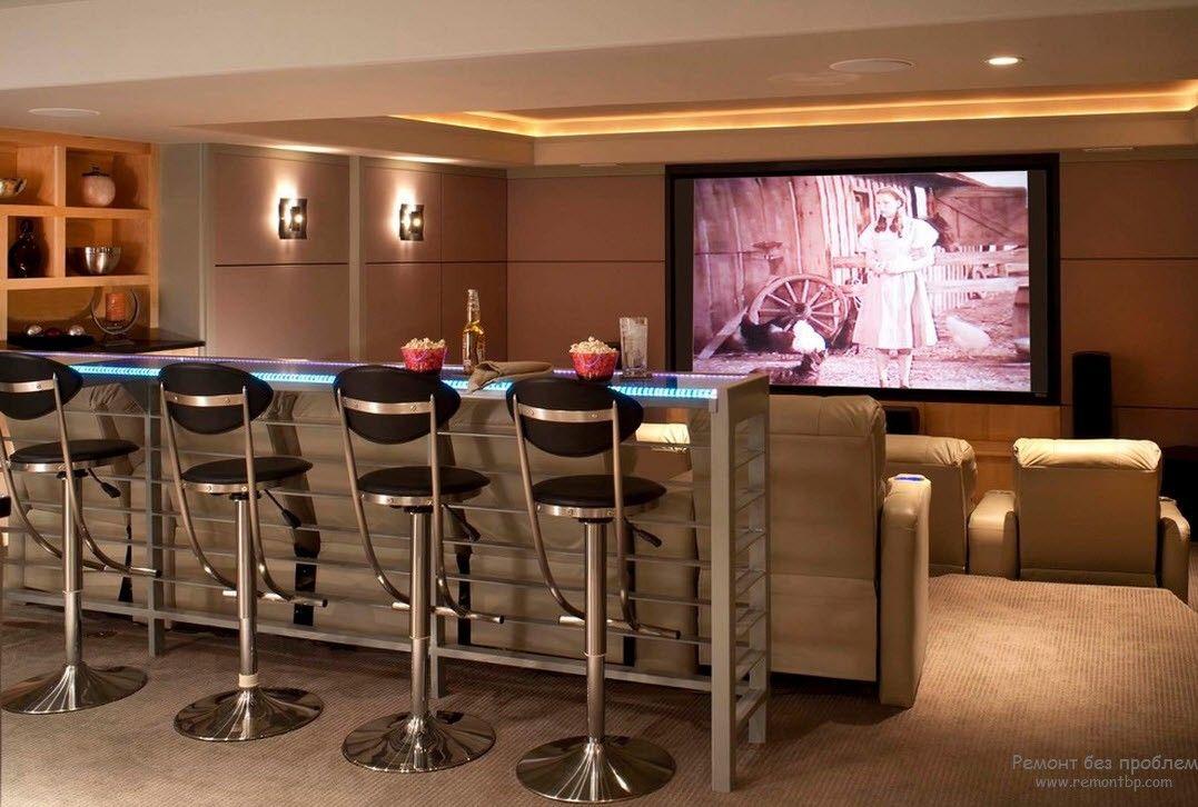 Дизайнерские решения для домашнего кинотеатра