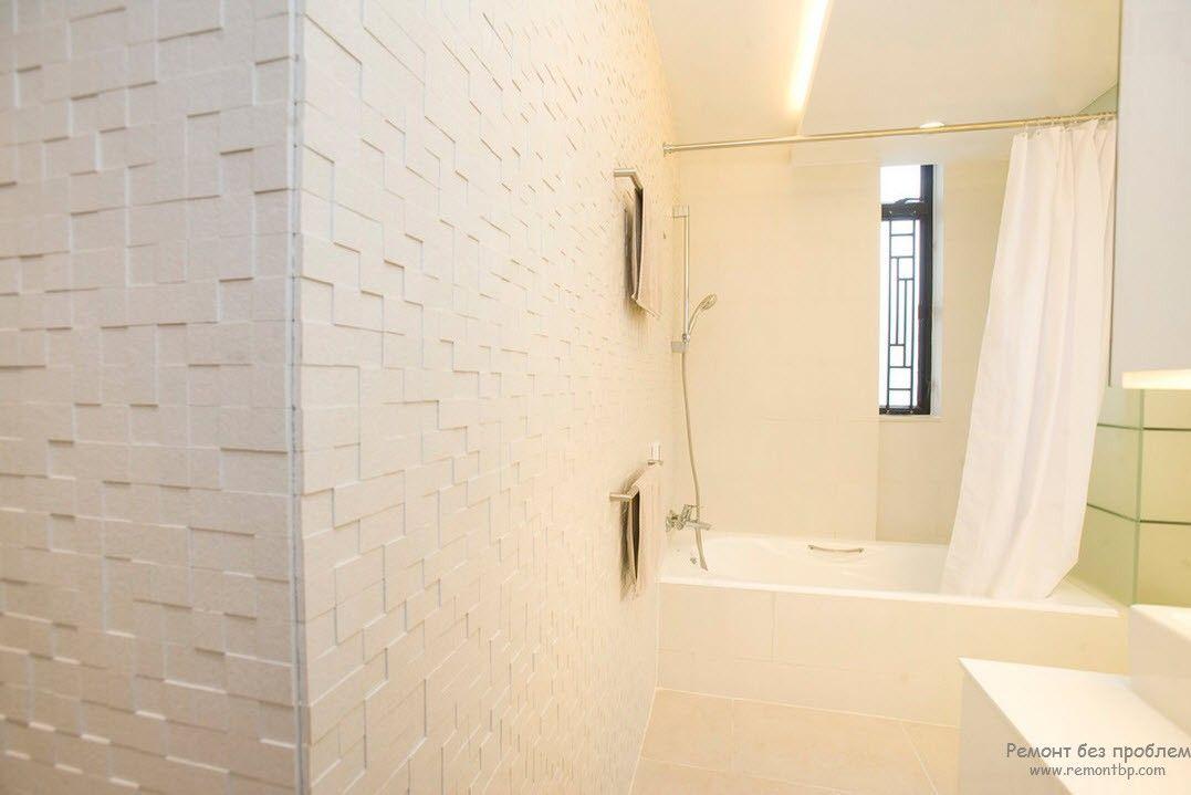 Использование одного светлого тона для отделки ванной комнаты в стиле минимализм