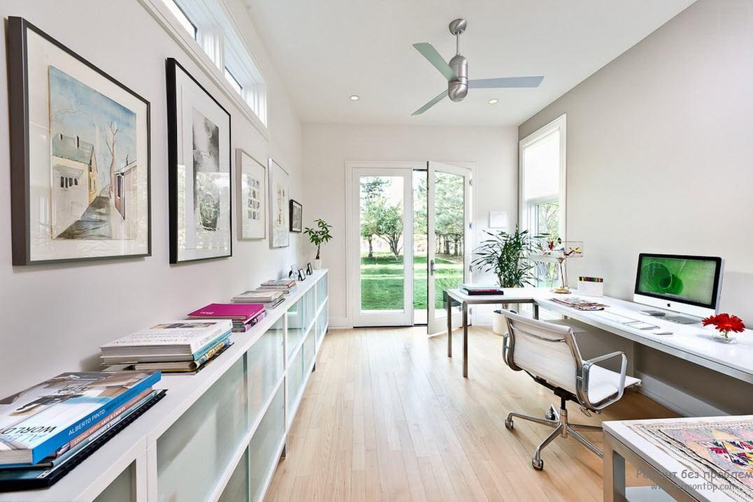 Простота и легкость домашнего кабинета