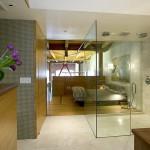 Ванная и душ в интерьере спальни