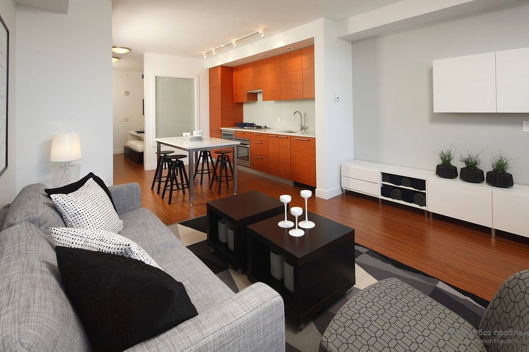 Удобный интерьер квартиры-студии