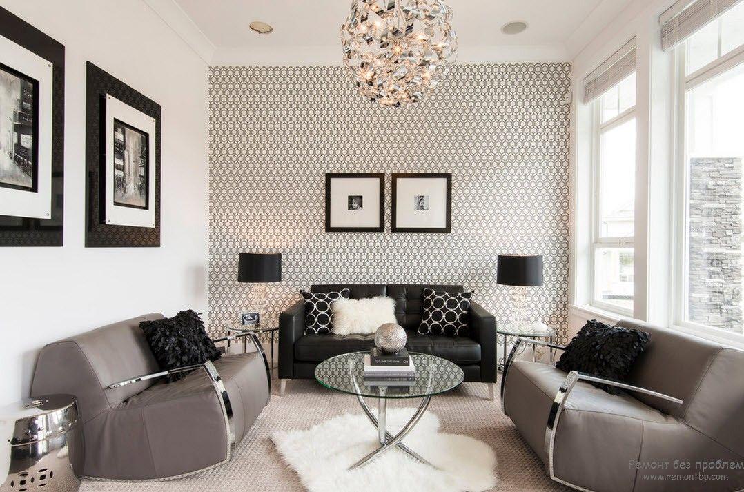 Wall Paper Home Decoration Ideas: Обои в интерьере современной гостиной