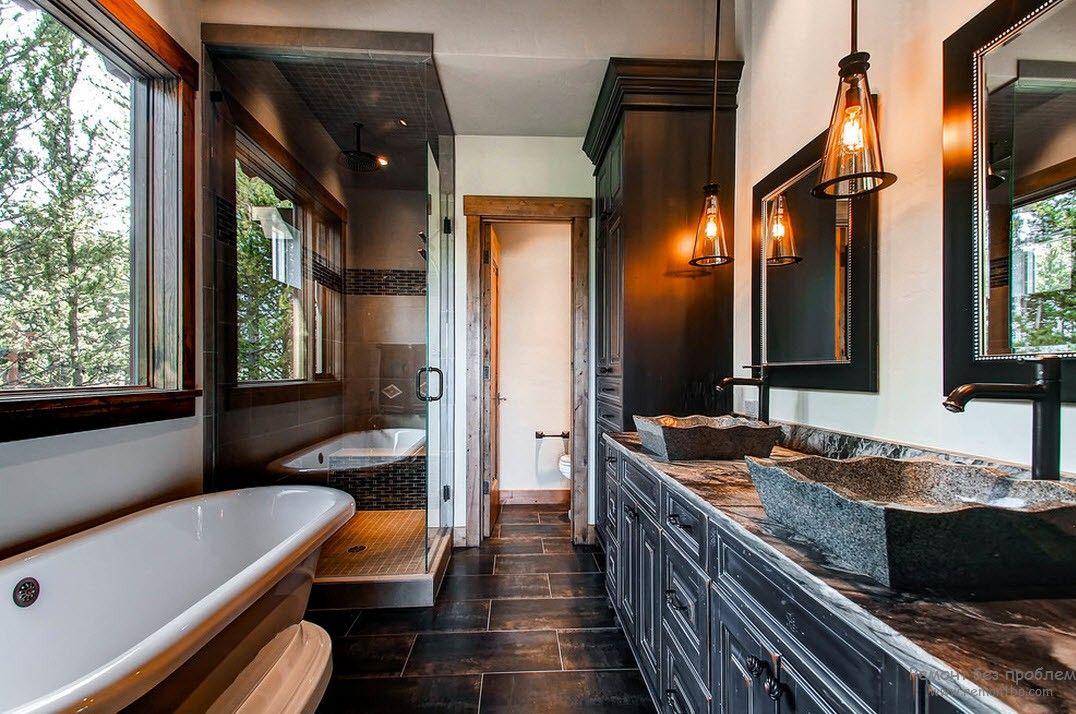 Раковины из камня в интерьере ванной комнаты