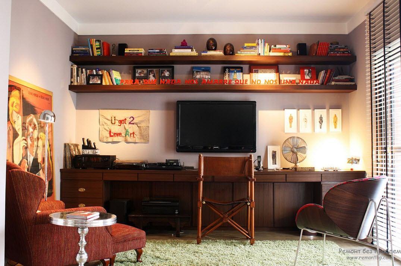 Интерьер домашнего кабинета на фото