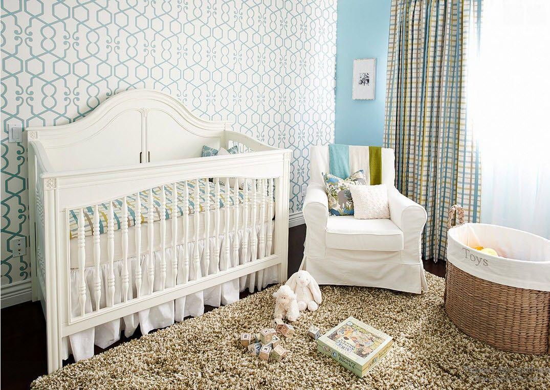 Светлые нежные тона обоев для новорожденных