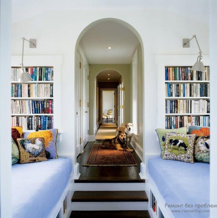 Оригинальный дизайн читального места в интерьере