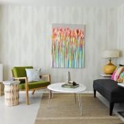 Обои для гостиной в стиле минимализм