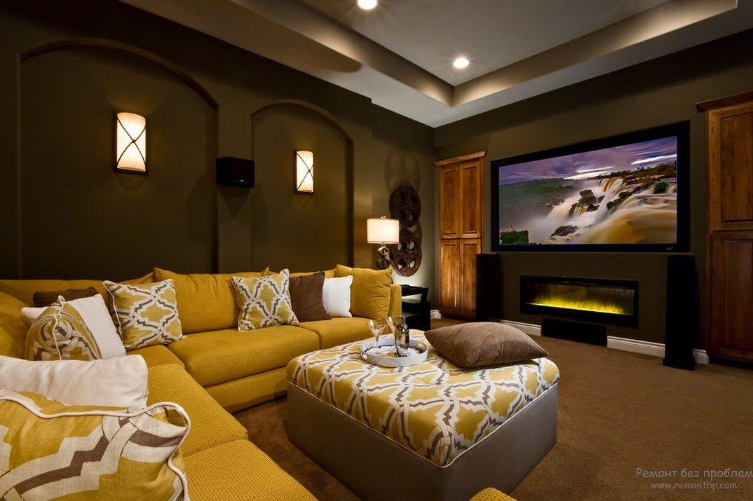 Удобная мебель домашнего кинотеатра