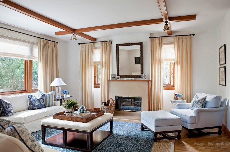 Пуфик под цвет мебели в интерьере