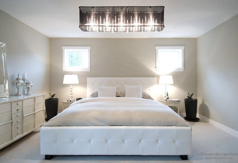 Настольные лампы для интерьера белой спальни