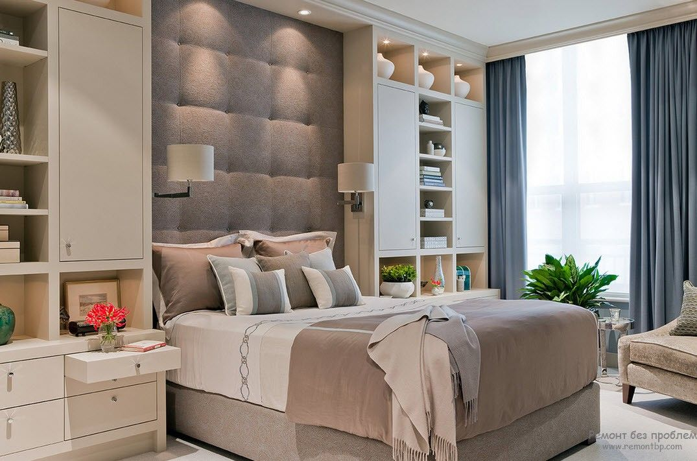 Шкафчики в стиле модерн в женской спальне