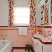 Сочный интерьер ванной в персиковом цвете
