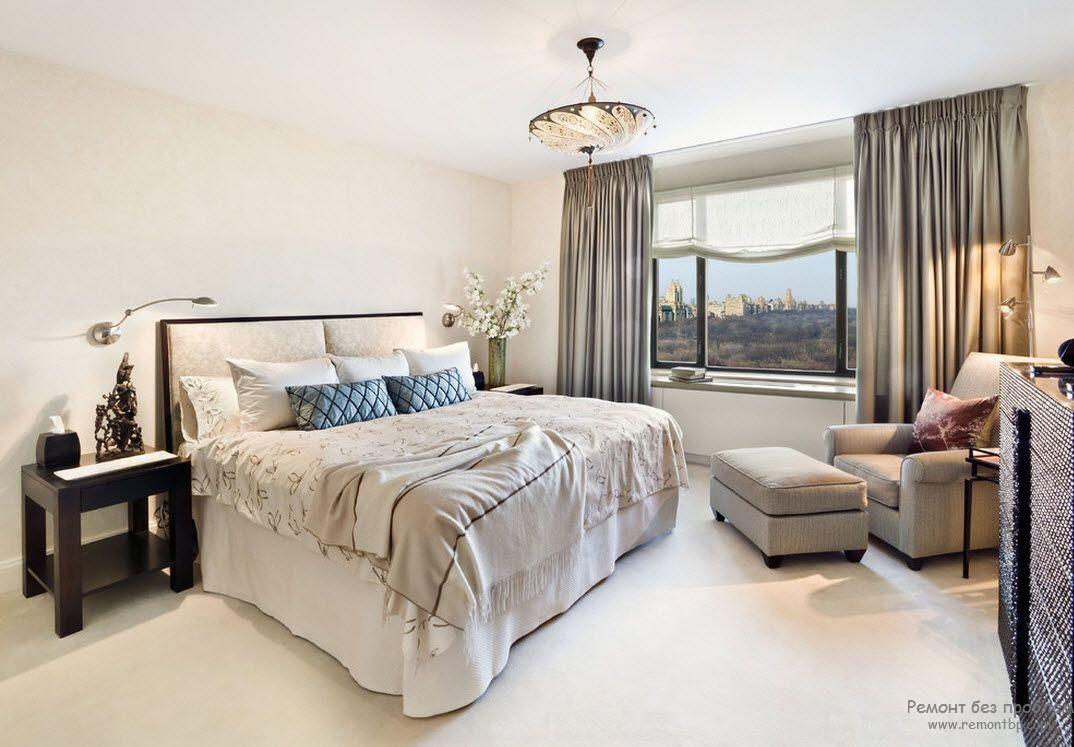 Подвесной светильник-тарелка для рассеянного общего освещения спальни