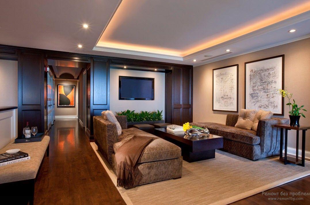 Интерьер и дизайн потолка